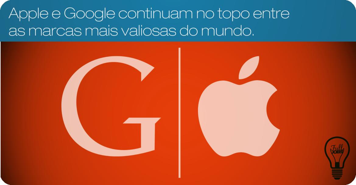 Apple e Google entre as marcas mais valiosas do mundo